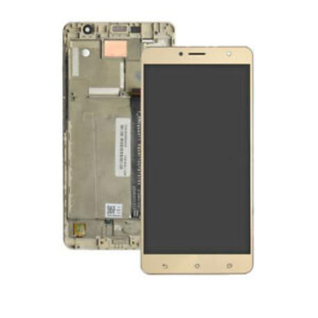 PANTALLA LCD DISPLAY + TACTIL CON MARCO PARA ASUS ZENFONE 3 DELUXE (ZS550KL) - ORO