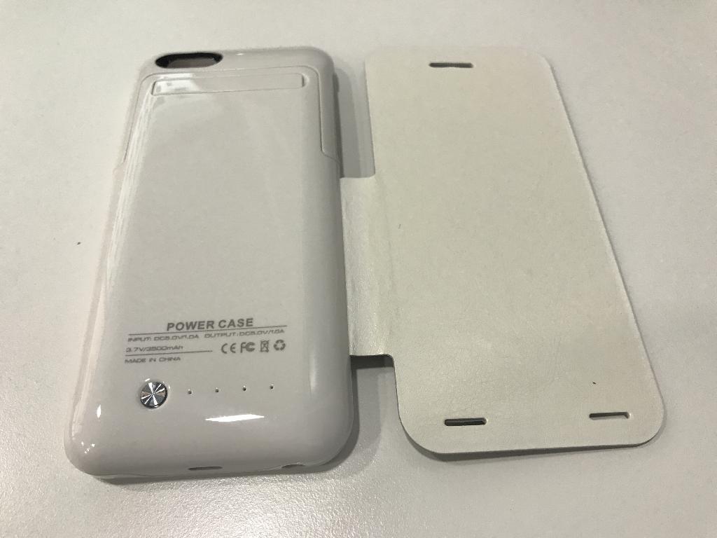 48a1c4cb0a5 Funda Tapadera Bateria Cargador Externa para iPhone 6 6s 3500mAh Blanca