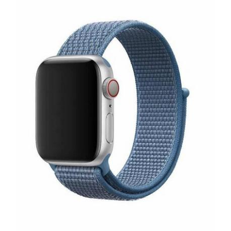 CORREA DE NYLON PARA APPLE WATCH 32/44MM, WATCH 3 / 4 - AZUL