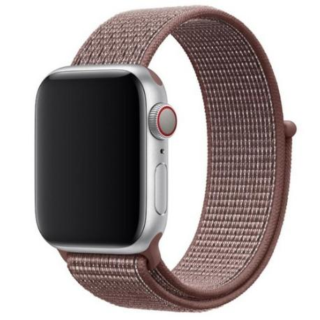 CORREA DE NYLON PARA APPLE WATCH 42/44MM, WATCH 3 / 4 - MARRON