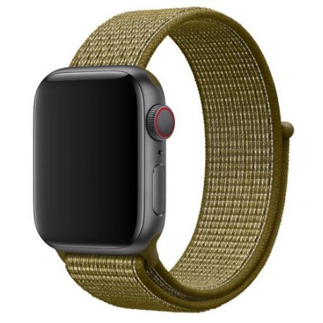 CORREA DE NYLON PARA APPLE WATCH 42/44MM, WATCH 3 / 4 - KHAKI