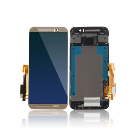 PANTALLA LCD DISPLAY + TACTIL CON MARCO PARA HTC ONE M9+ , M9 PLUS - ORO