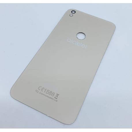 TAPA TRASERA PARA ALCATEL ONE TOUCH SHINE LITE 5080X - ORO