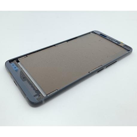 CARCASA FRONTAL DE PANTALLA Y MARCO PARA HTC U11 PLUS - NEGRA