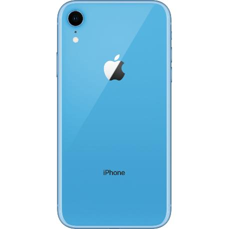 CARCASA CENTRAL Y TAPA TRASERA PARA IPHONE XR - AZUL