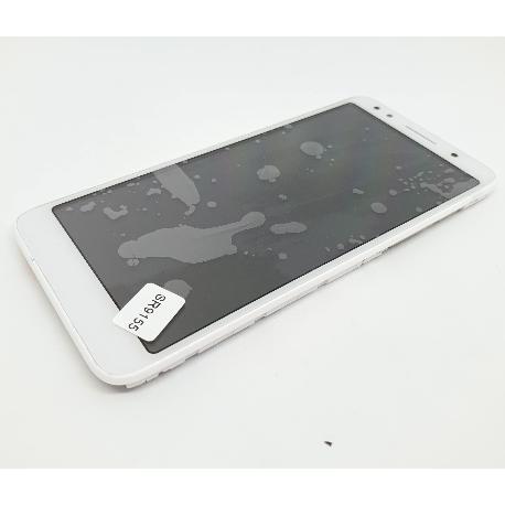PANTALLA LCD Y TACTIL CON MARCO PARA ALCATEL 1X 5059 - BLANCA