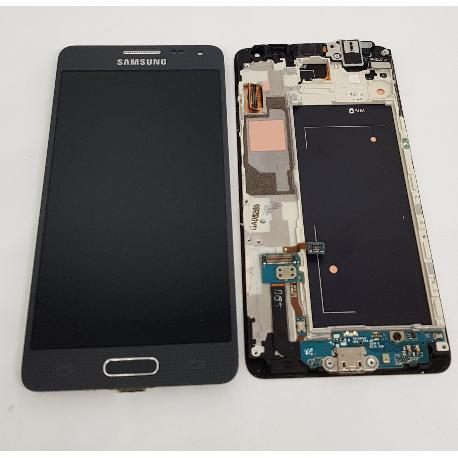 PANTALLA LCD + TACTIL CON MARCO ORIGINAL PARA SAMSUNG GALAXY ALPHA SM-G850F NEGRA - RECUPERADA