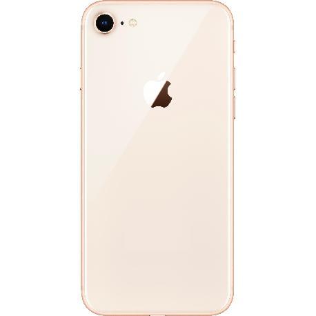 Carcasa Intermedia con Tapa Trasera Para iPhone 8 - Rosa / Oro
