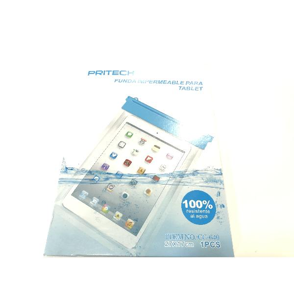 FUNDA IMPERMEABLE / AQUATICA UNIVERSAL PARA MOVILES TABLET - 27 X 17 CM