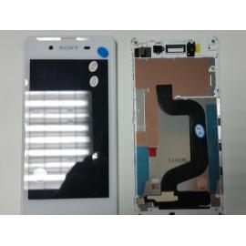 Pantalla Lcd + Tactil con Marco Original Sony Xperia E3 D2202 D2203 D2206 D2212 Blanca de desmontaje