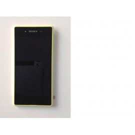 Pantalla Lcd + Tactil con Marco Original Sony Xperia E3 D2202 D2203 D2206 D2212 amarilla de desmontaje