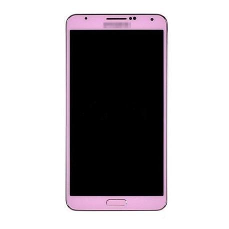 PANTALLA LCD DISPLAY + TACTIL CON MARCO ORIGINAL PARA SAMSUNG GALAXY NOTE 3 N9005 ROSA -  RECUPERADA