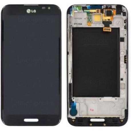 PANTALLA LCD DISPLAY + TACTIL CON MARCO CON LG E986 OPTIMUS G PRO - NEGRA