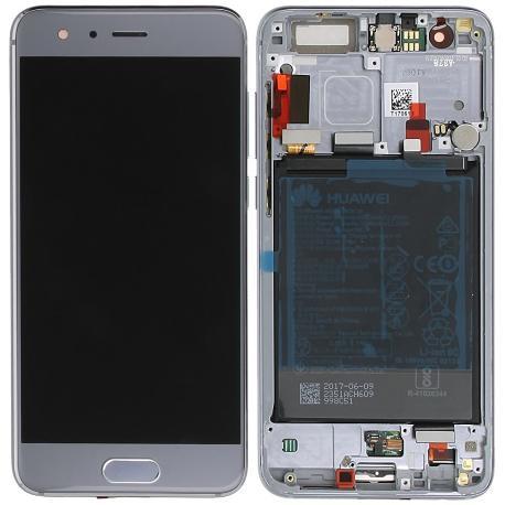 PANTALLA LCD DISPLAY + TACTIL CON MARCO ORIGINAL PARA HUAWEI HONOR 9 STF-L09 GRIS - USADA