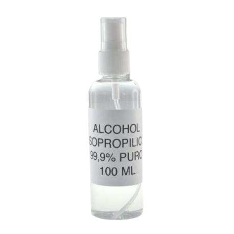 BOTELLA DE ALCOHOL ISOPROPILICO CON VAPORIZADOR - 100ML