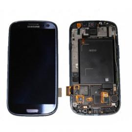 Pantalla completa + carcasa frontal Original Samsung Galaxy S3 i9300 Azul