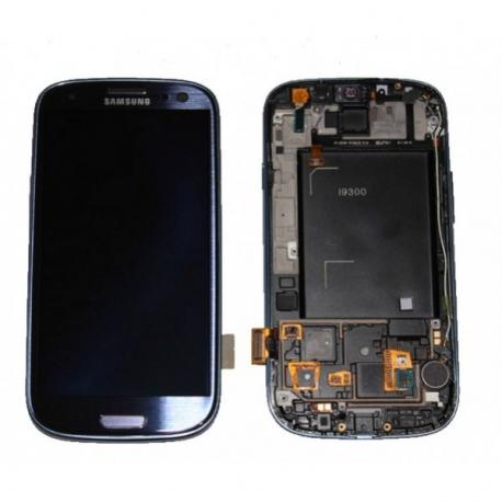Pantalla completa + carcasa frontal Samsung Galaxy S3 i9300. Azul