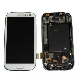Pantalla Completa LCD Display + Tactil + Carcasa Frontal Original para Samsung Galaxy S3 i9300 - Blanca