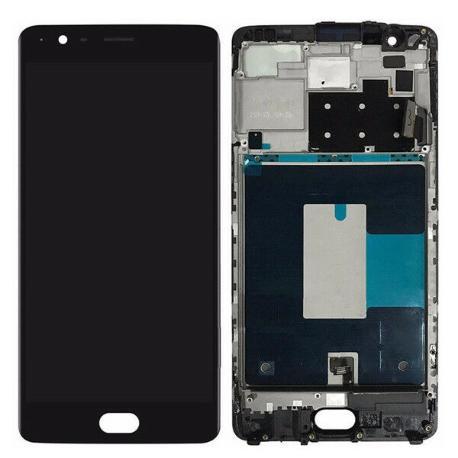 PANTALLA LCD DISPLAY + TACTIL CON MARCO PARA ONEPLUS 3T - NEGRA