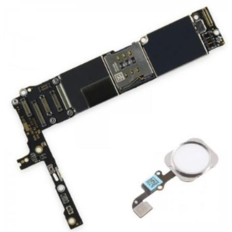 PLACA BASE LOGIC BOARD MOTHERBOARD IPHONE 6S LIBRE 16GB (CON BOTON HOME BLANCO ) - RECUPERADA