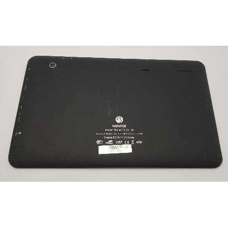 TAPA TRASERA ORIGINAL PARA WOXTER TABLET PC DX100 DX 100 NEGRA - RECUPERADA