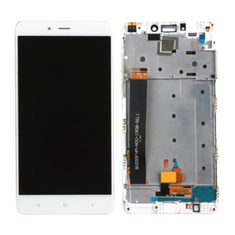 PANTALLA TACTIL + LCD DISPLAY CON MARCO PARA XIAOMI REDMI NOTE 4 - BLANCO