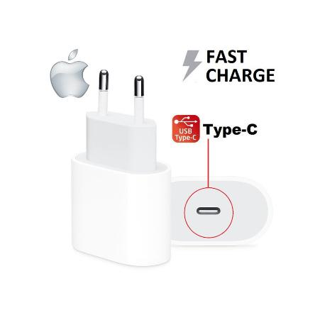 ADAPTADOR DE CORRIENTE APPLE USB-C 5V - 3A / 9V - 2A 18W