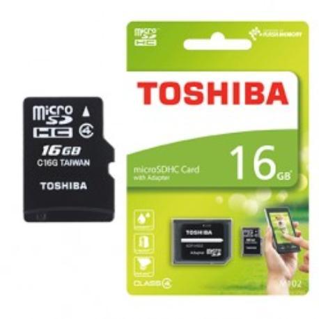 TARJETA MICRO SD 16GB CLASE 4 TOSHIBA