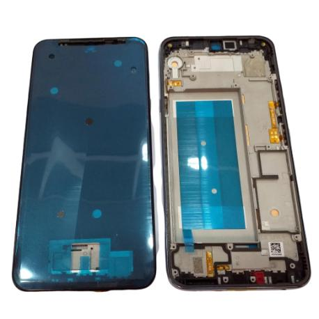 CARCASA FRONTAL Y MARCO PARA LG Q60, LG K50 - PLATA