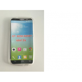 Funda de silicona para el Alcatel one touch Idol 2S OT-6050 OT-6050Y - Transparente