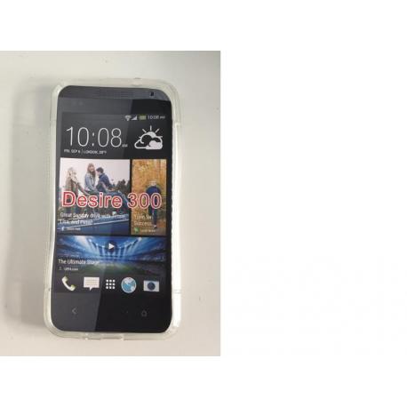 Funda de silicona para el HTC Desire 300 - Transparente