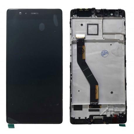 PANTALLA LCD DISPLAY + TACTIL CON MARCO ORIGINAL HUAWEI P9 PLUS - NEGRA RECUPERADA