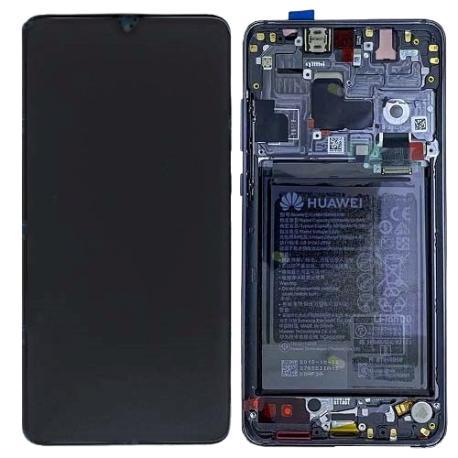 PANTALLA ORIGINAL IPS LCD CON MARCO PARA HUAWEI MATE 20 - NEGRA