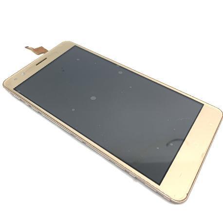 PANTALLA LCD Y TACTIL CON MARCO PARA INNJOO HALO 3 PLUS - ORO