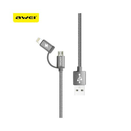 CABLE AWEI CL930 2EN1 MICROUSB Y  CABLE DE IPHONE