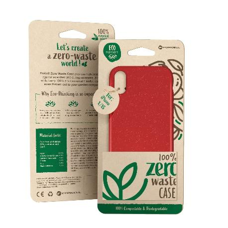 FUNDA BIODEGRADABLE PARA IPHONE 11 PRO MAX - ROJO