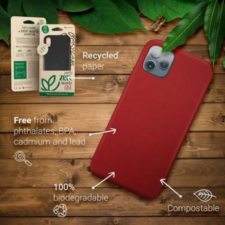 FUNDA BIODEGRADABLE PARA IPHONE 7 PLUS, 8 PLUS - NEGRA