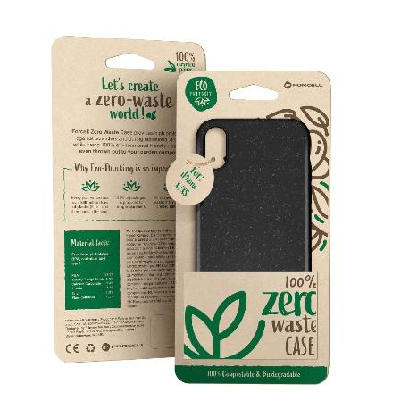 FUNDA BIODEGRADABLE PARA IPHONE XR - NEGRA