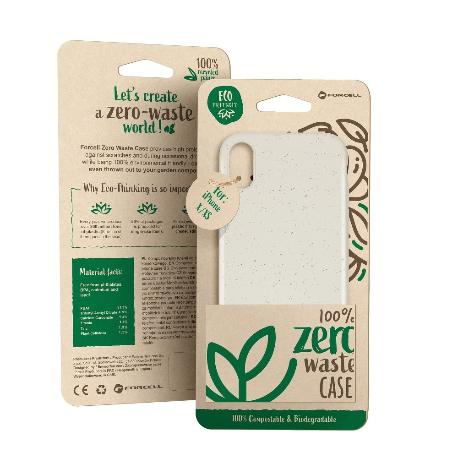 FUNDA BIODEGRADABLE PARA IPHONE XS MAX - BLANCA