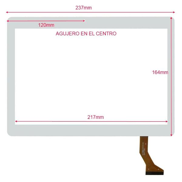 PANTALLA TACTIL TABLET 10.1 PULGADAS LEOTEC SUPERNOVA QI216 - BLANCA