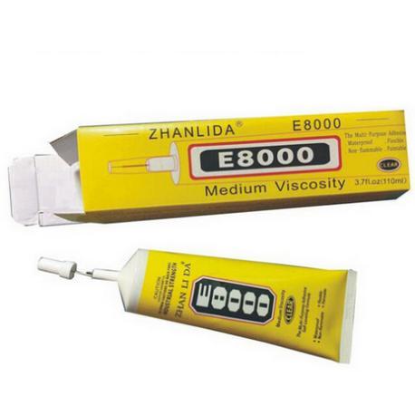 PEGAMENTO TRANSPARENTE E8000, E-8000 - MAS VENDIDO EN EUROPA - 110ML