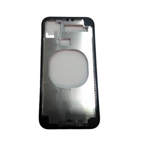 CARCASA FRONTAL Y MARCO LATERAL PARA IPHONE 11 - NEGRA -