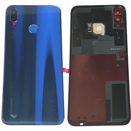 Tapa Trasera Original para Huawei P20 lite - Azul - Con Lente y Huella