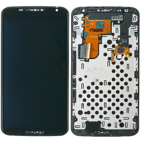 REPUESTO PANTALLA LCD + TACTIL CON MARCO PARA  MOTOROLA GOOGLE NEXUS 6 NEGRA