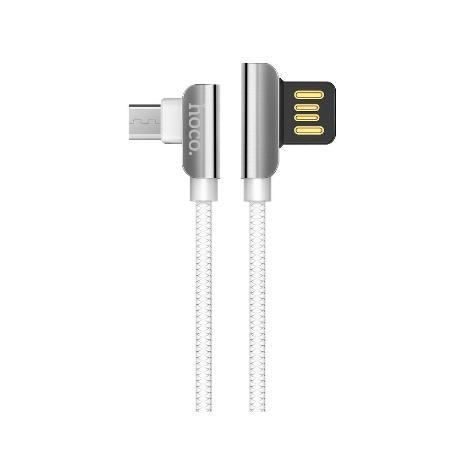 HOCO CABLE 90° MICRO USB U42 - BLANCO