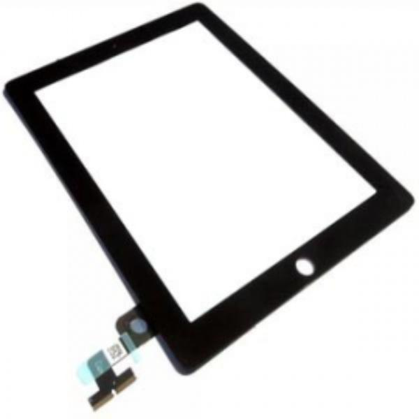 PANTALLA CON TOUCH DIGITALIZADOR TACTIL APPLE IPAD 2 NEGRO SIN BOTON HOME Y NI ADHESIVOS
