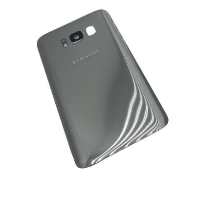 Tapa Compatible para Samsung Galaxy S8 - Plata con Lente