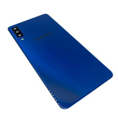 Tapa Compatible para Samsung Galaxy A7 (2018) - Azul Con Lente