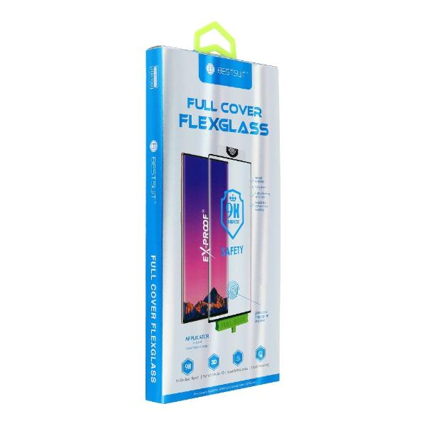 PROTECTOR FLEXIBLE GLASS 5D FULL GLUE - SAMSUNG GALAXY NOTE 10 PLUS - NEGRO