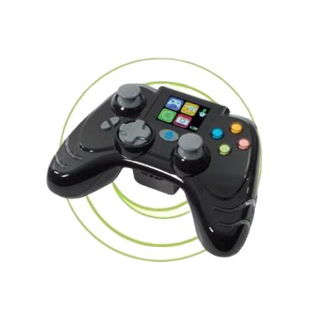 MANDO COMPATIBLE NALAMBRICO CON DISPLAY LCD PARA XBOX 360 - NEGRO